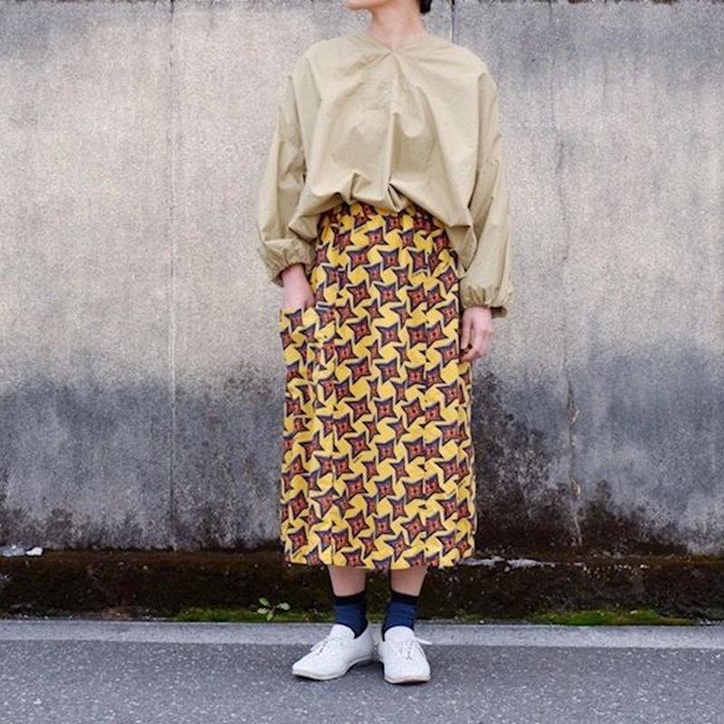 TIGRE BROCANTE( ティグルブロカンテ)/手裏剣ONE POCKET スカート/イエロー