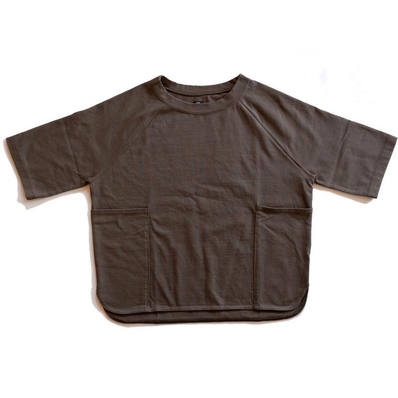 UNIVERSAL TISSU ユニヴァーサルティシュ|ヘビープレーティング ラグランスリーブTシャツ/khaki