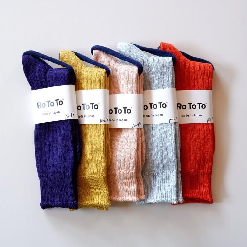 RoToTo(ロトト)/linen cotton rib socks/ リネンコットンリブソックス