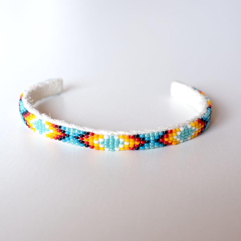 INDIAN JEWELRY/NAVAJO/Beads Bangle/narrow