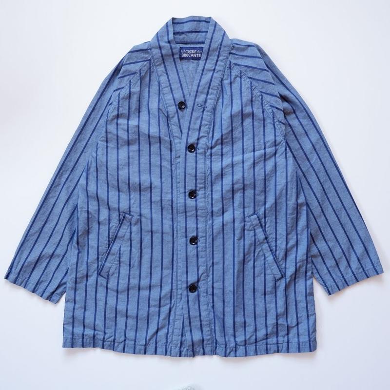 TIGRE BROCANTE(ティグルブロカンテ)/ストライプシャンブレーハッピシャツコート