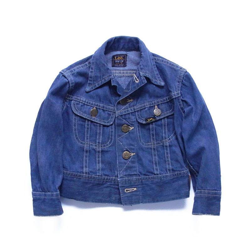 "vintage ""Lee"" 109-JB denim jacket leather patch"