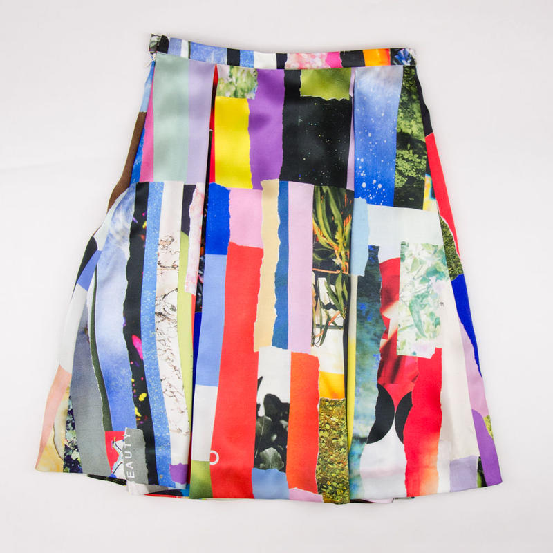 Patchwork Print Skirt / パッチワークプリントスカート