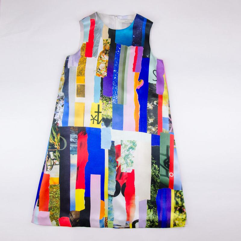 Patchwork Print Dress / パッチワークプリントドレス