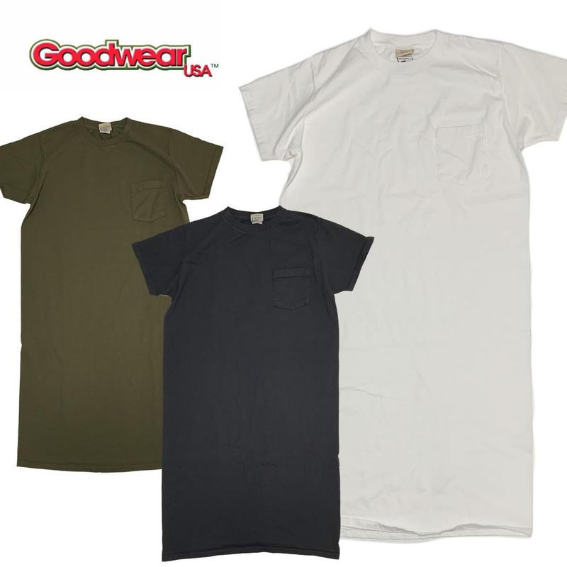 (グッドウェア)Goodwear S/S POCKET ONEPIECE