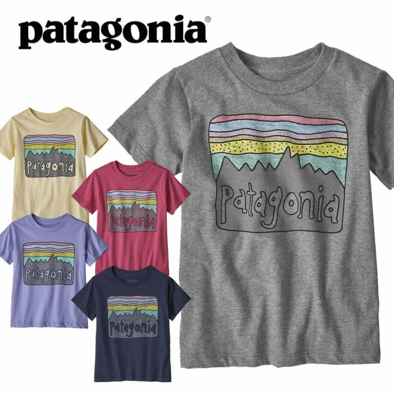 (パタゴニア)Patagonia Baby Fitz Roy Skies Organic T-shirt