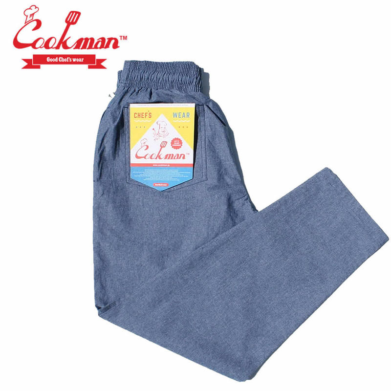 (クックマン)Cookman Chef Pants 「Chambray」 Blue