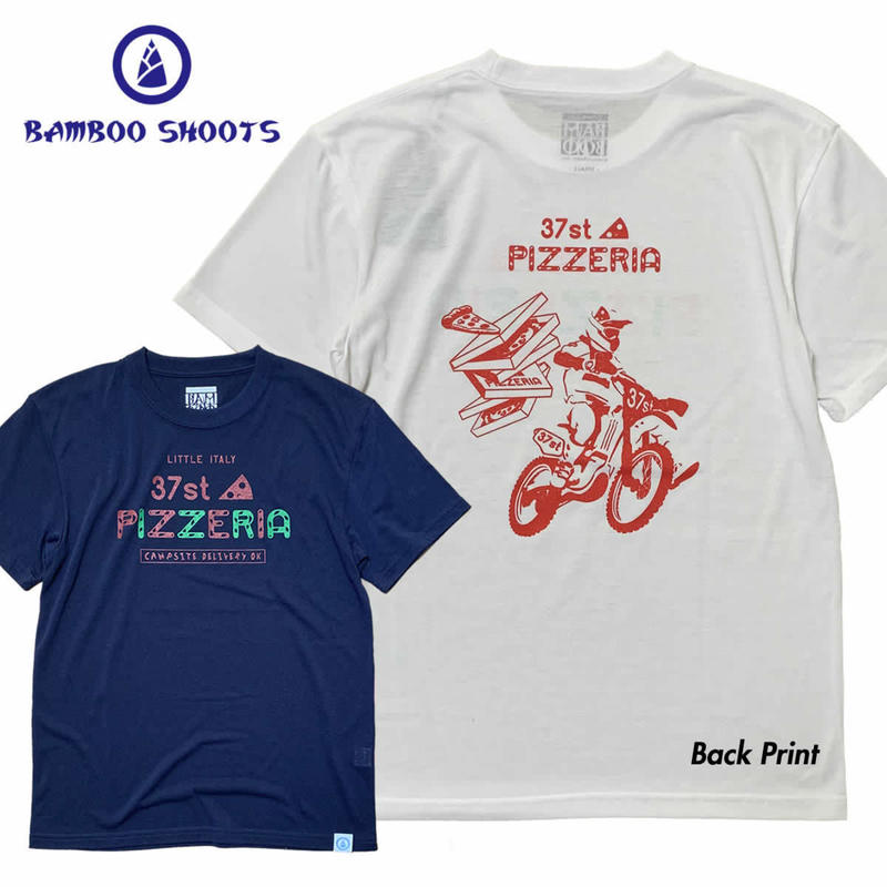 """(バンブーシュート)BAMBOO SHOOTS SOKKAN TEE """"37st Pizzeria"""""""