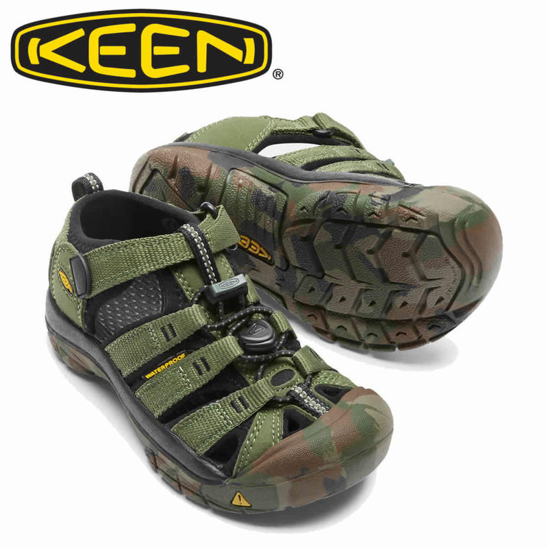 (キーン)KEEN KIDS NEWPORT H2 CRUSHED BRONZE GREEN