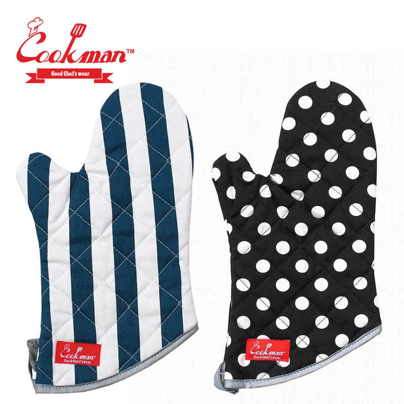 (クックマン)Cookman Mitten 「Wide stripe」「Dots」 1PCS