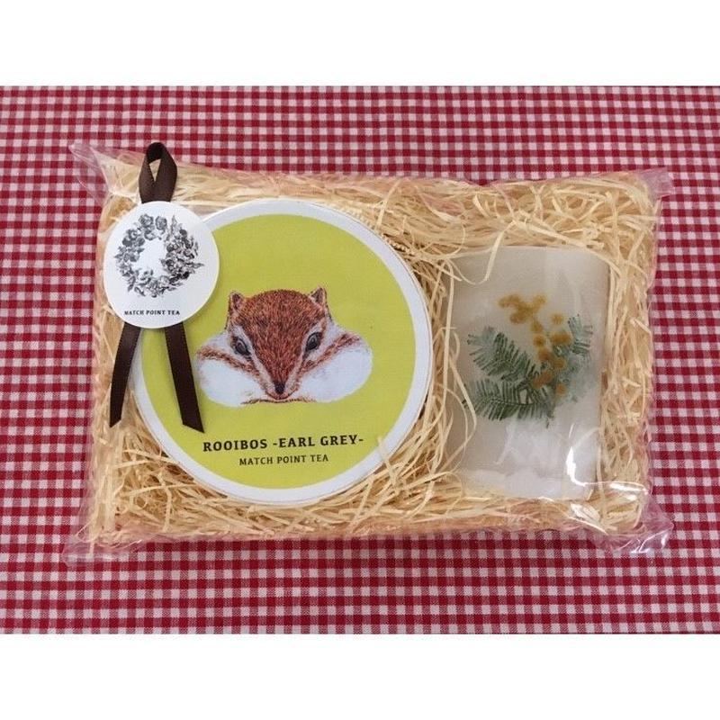 蝋燭と紅茶 *GIFT SET (mimosa candle)