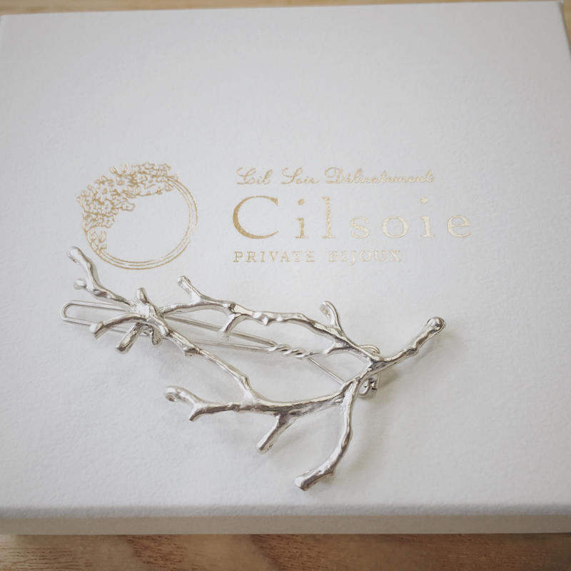 cilsoie 枝珊瑚ピン(シルバー)