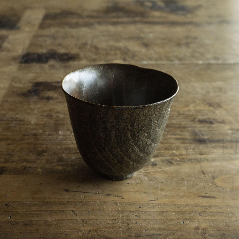 只木芳明 錫茶杯