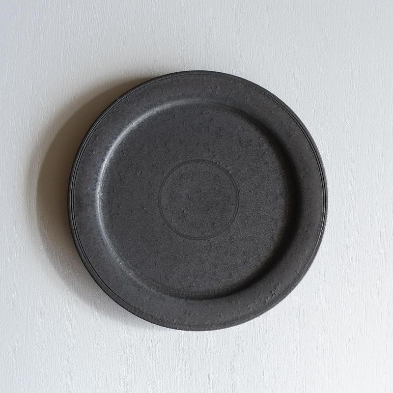 船串篤司 ブロンズ釉リム皿24φ