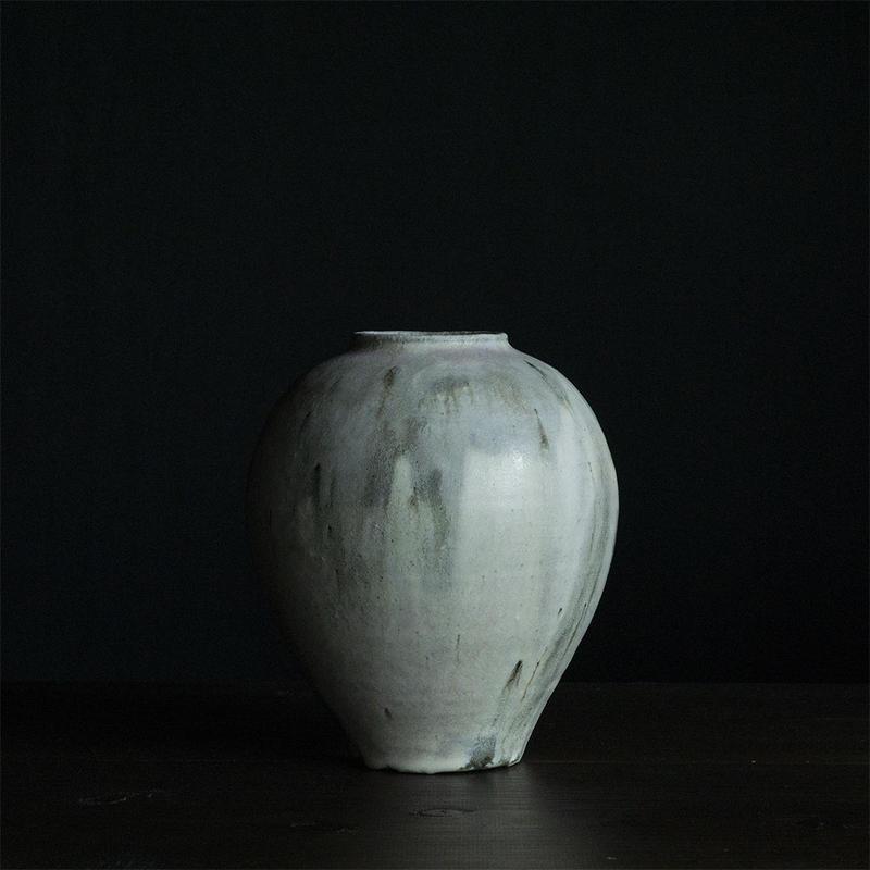 長谷川奈津 林檎灰釉花器