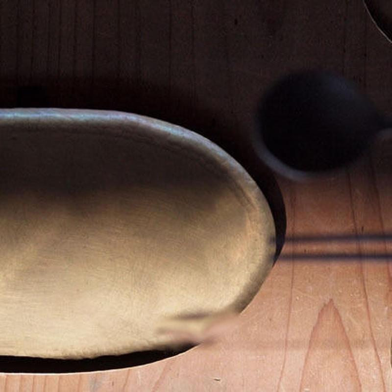中村友美 真鍮なが楕円皿 小