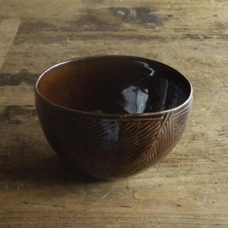 ヨーガンレール ババグーリ 焦茶の陶器(ボウル)