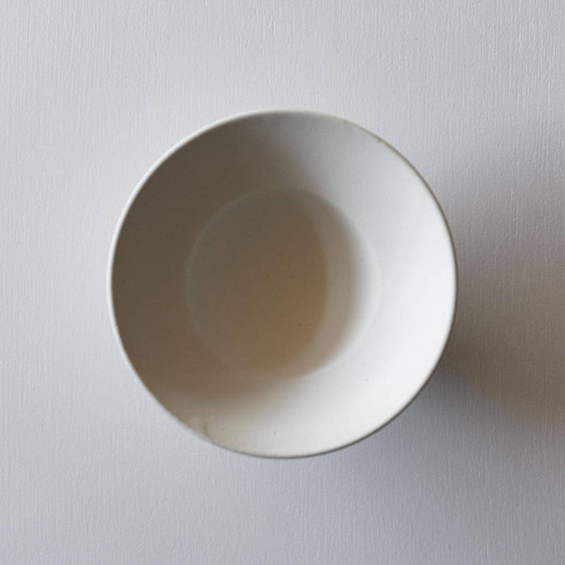 船串篤司 白釉プレートリムボウル18φ