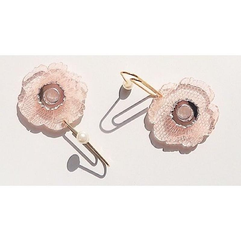 flower lace pink