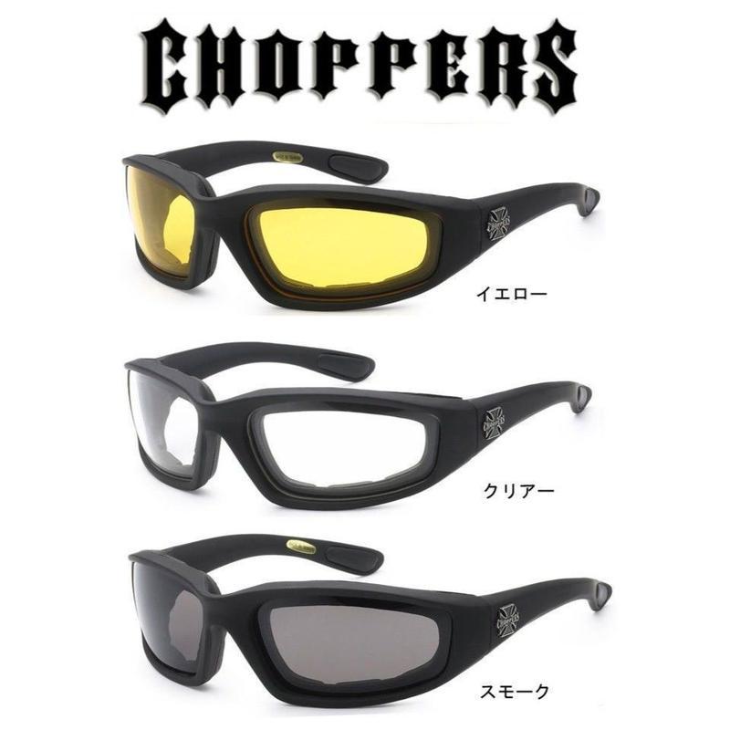 アメリカ Choppers チョッパーズ バイカー パッド付き サングラス  バイク用ゴーグル CP901