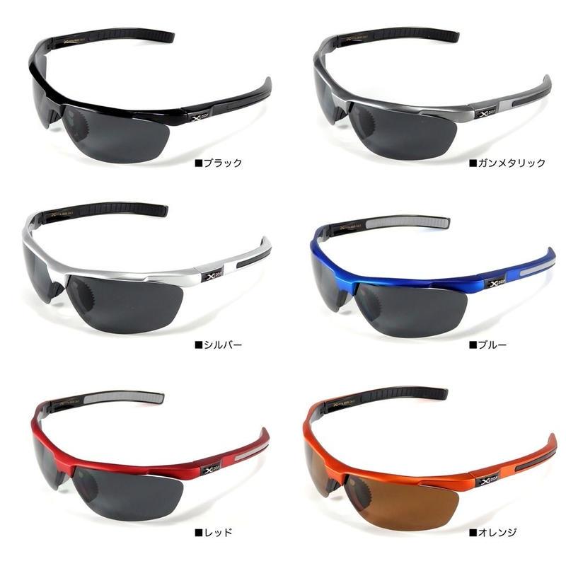偏光 レンズ スポーツ サングラス X-LOOP 3606 ゴルフ 釣り ランニング 6色