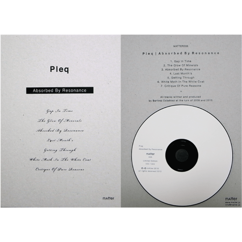 CD | Absorbed By Resonance :: Pleq - MATTER005