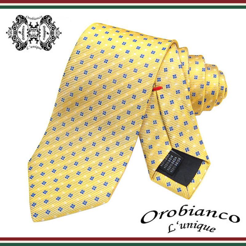 Orobianco L'unique オロビアンコ ルニーク ネクタイ 新柄 シルク メンズ 紳士 ビジネス  (42)