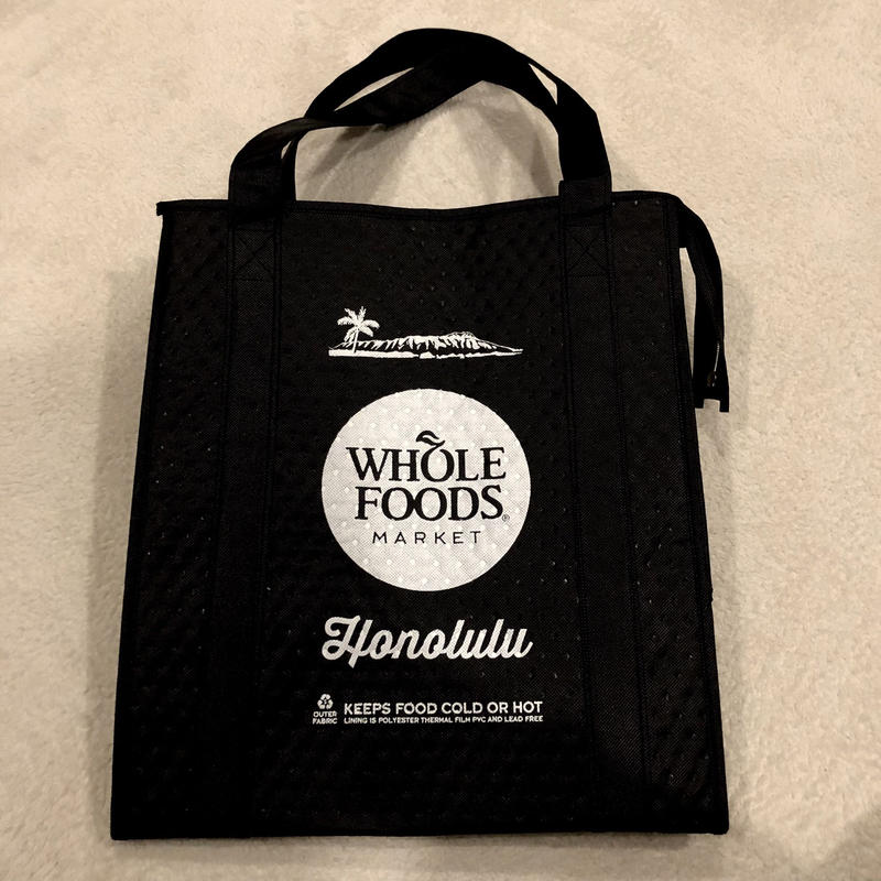 Wholefoods cooler bag black