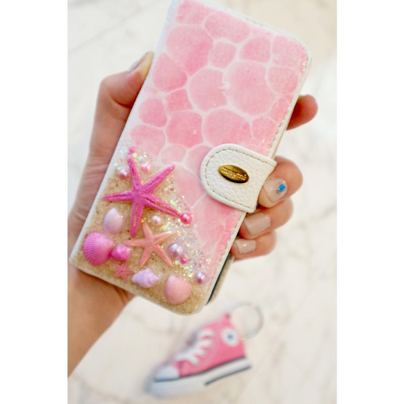 pink beach notebook case