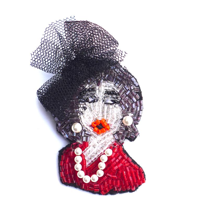 Ms.melancholy(ミセス・メランコリー)  | ビーズブローチ hand made beads brooch