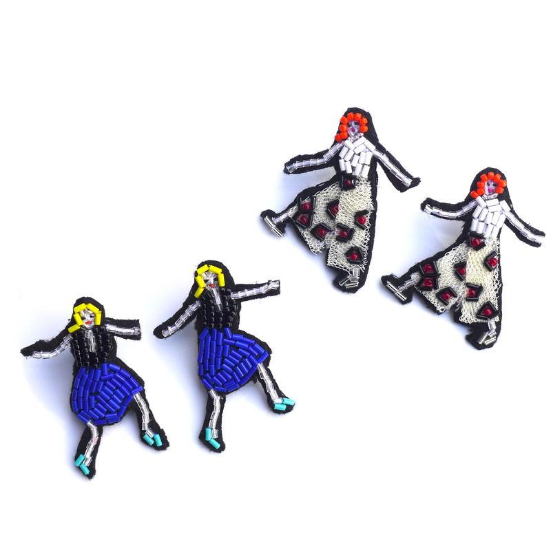 pop girls     ビーズピアス hand made beads Earrings
