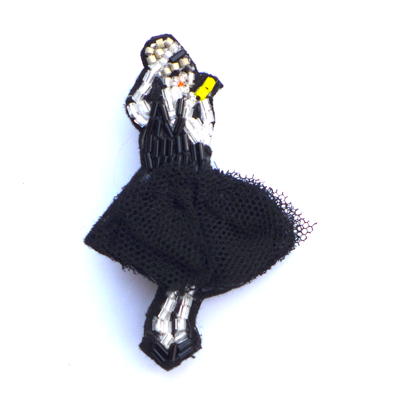 サマーデート summer dress | ビーズブローチ hand made beads brooch