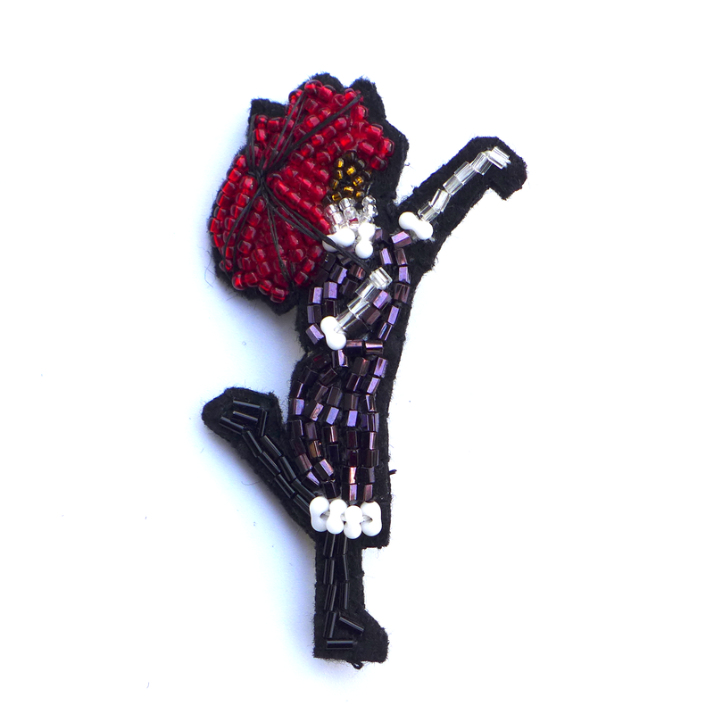 Rainy Day !   | ビーズブローチ hand made beads brooch