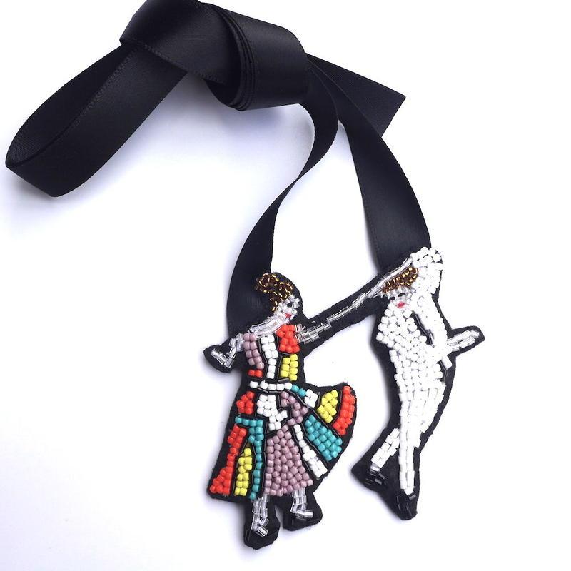 ジェントルマン・デュエット Ballroom dancing | チョーカー hand made beads choker
