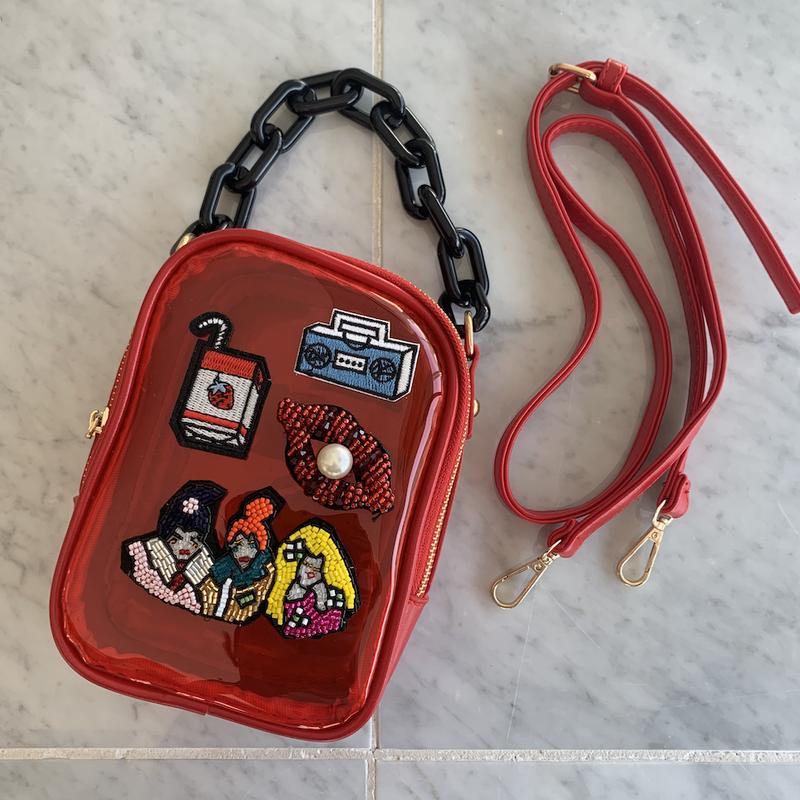 カラフルクリアバッグ(RED)|バッグ