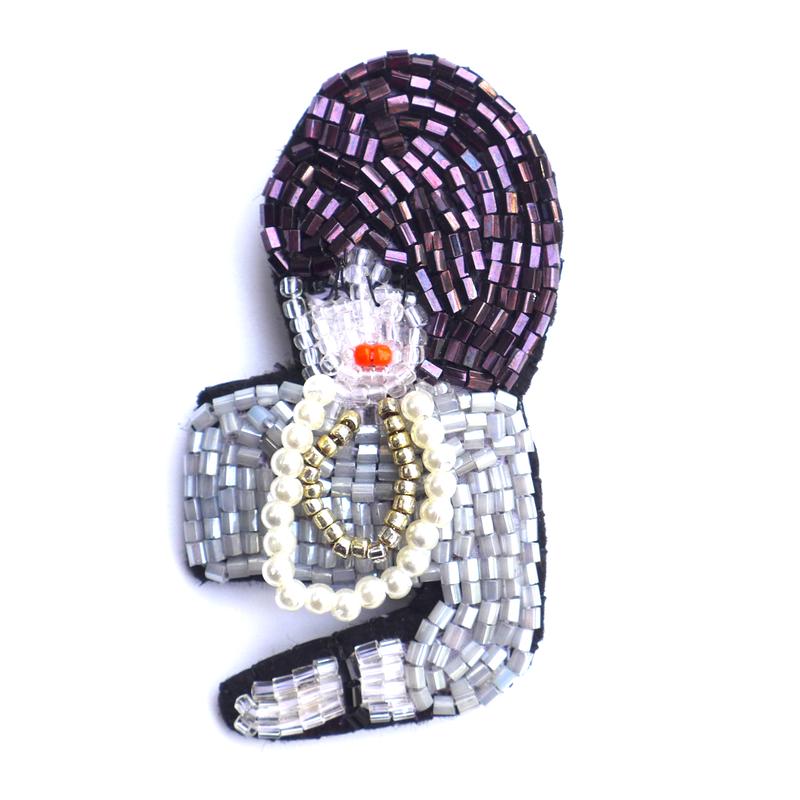 夜会 evening party    ビーズブローチ hand made beads brooch