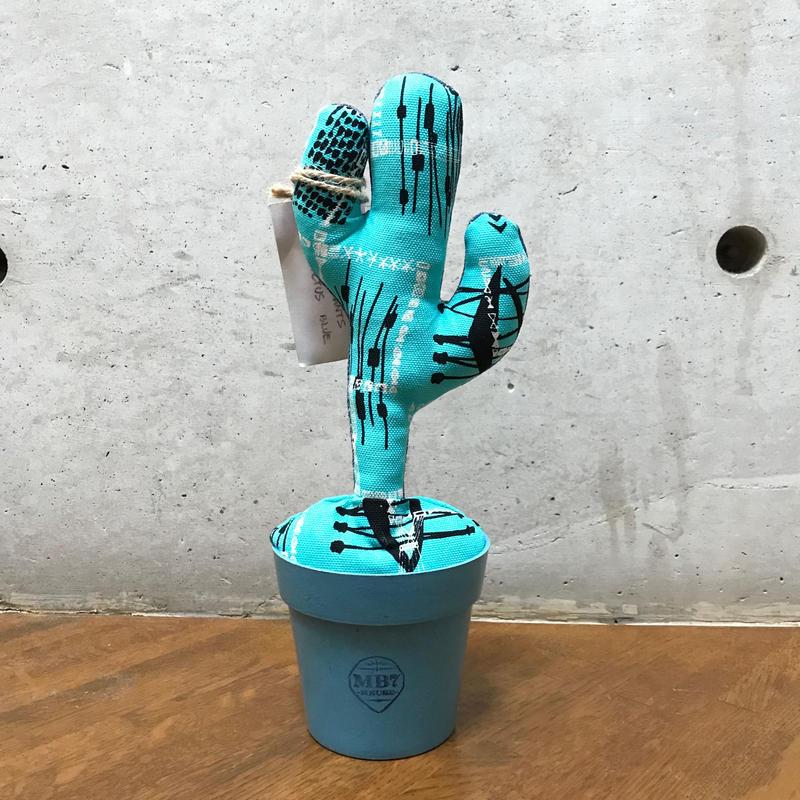 """MOOKIE SATO×MB7r LITTLE PLANTS CACTUS """"BLUE"""""""