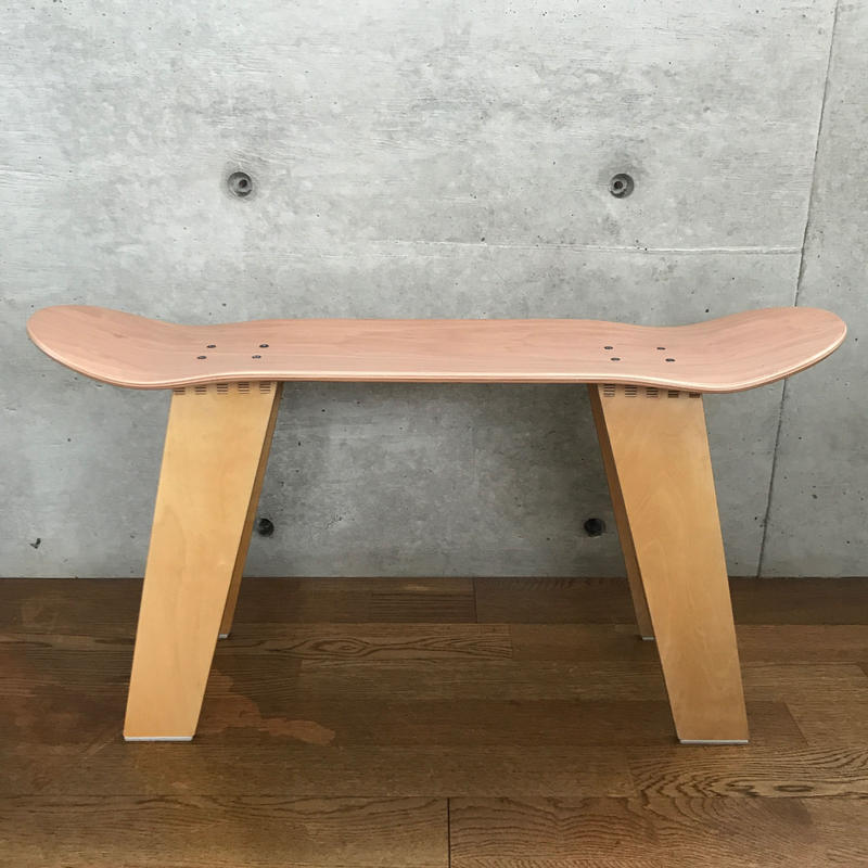 MADE BY SEVEN -REUSE- ORIGINAL SKATE DECK Wood STOOL NATURAL
