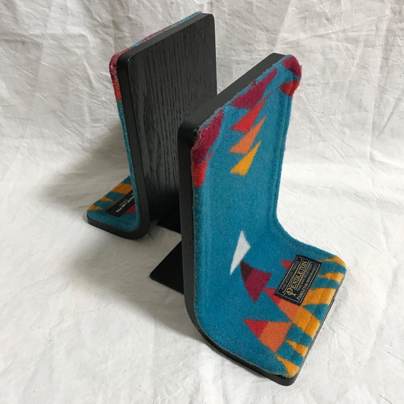 "【サンプル】PENDLETON×MB7r BOOKEND ""OVER ALL TURQUOISE"" BLACK BODY"