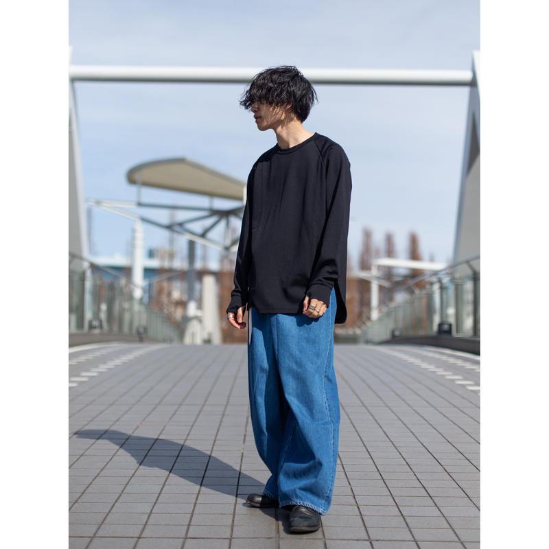 【KAZUYUKI KUMAGAI】 11ozオールドストレートデニム オーバーサイズラップパンツ