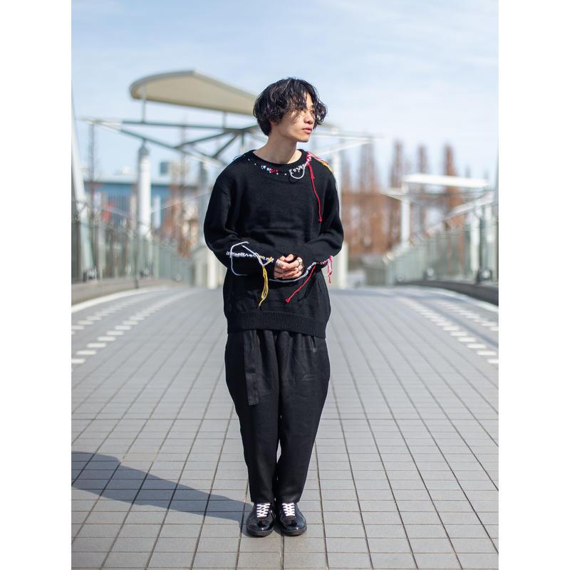 【KAZUYUKI KUMAGAI】  アイアスフェイクベルト付きラップパンツ