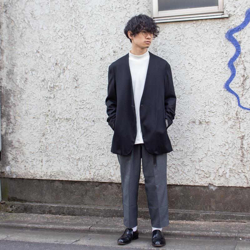 【ADAM ET ROPE × MB】BLACK NOCOLLAR JACKET