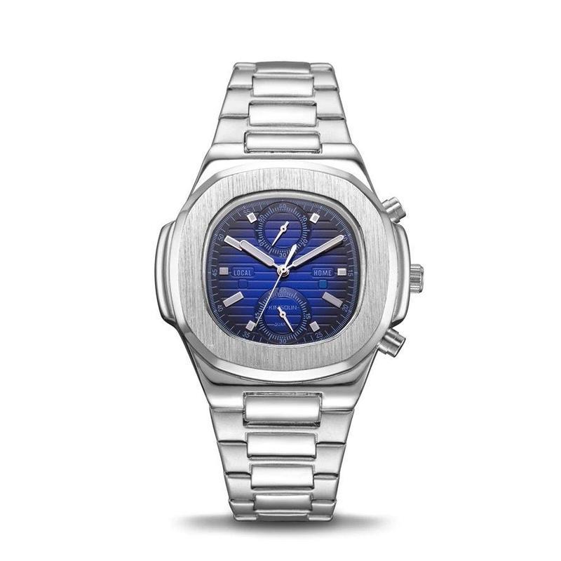 KIMSDUN メンズ クォーツ腕時計 40mm 全9カラー ステンレス/レザーバンド