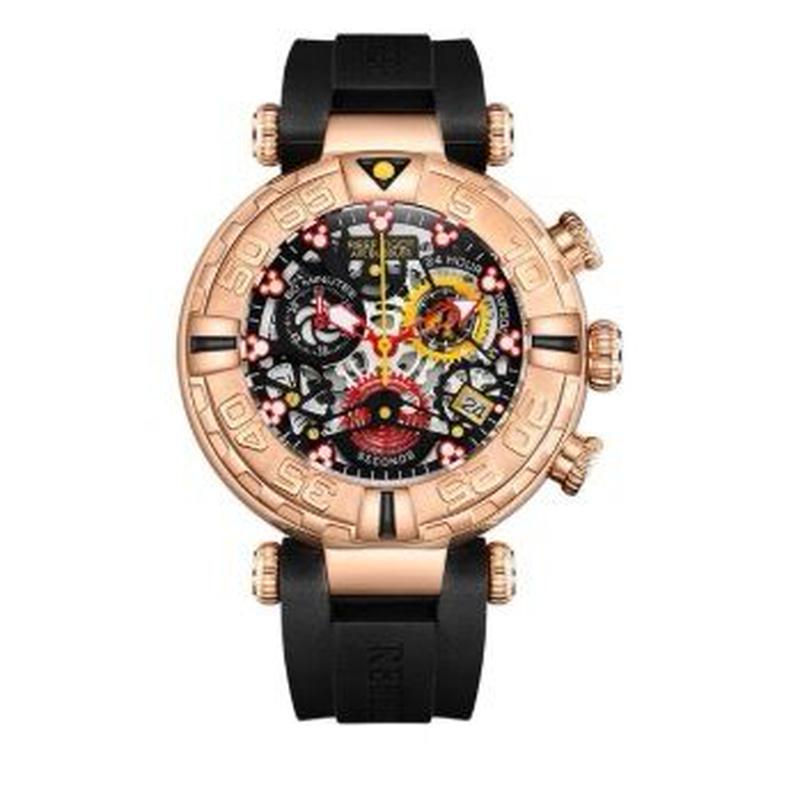 Reef Tiger メンズ クォーツ腕時計 スケルトン スポーツモデル