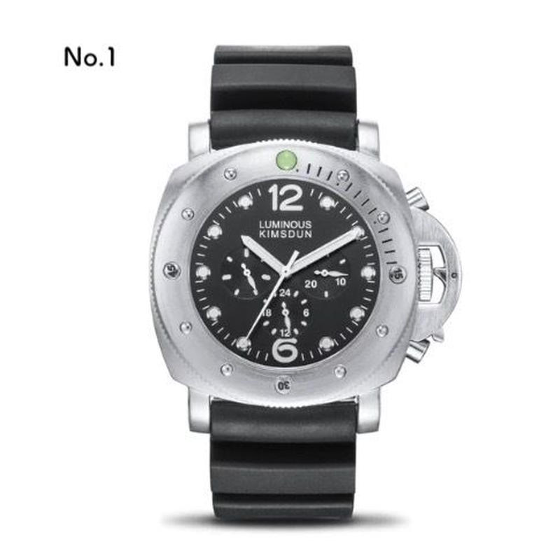 KIMSDUN メンズ 自動巻機械式腕時計 サブマーシブルスタイル ミリタリー
