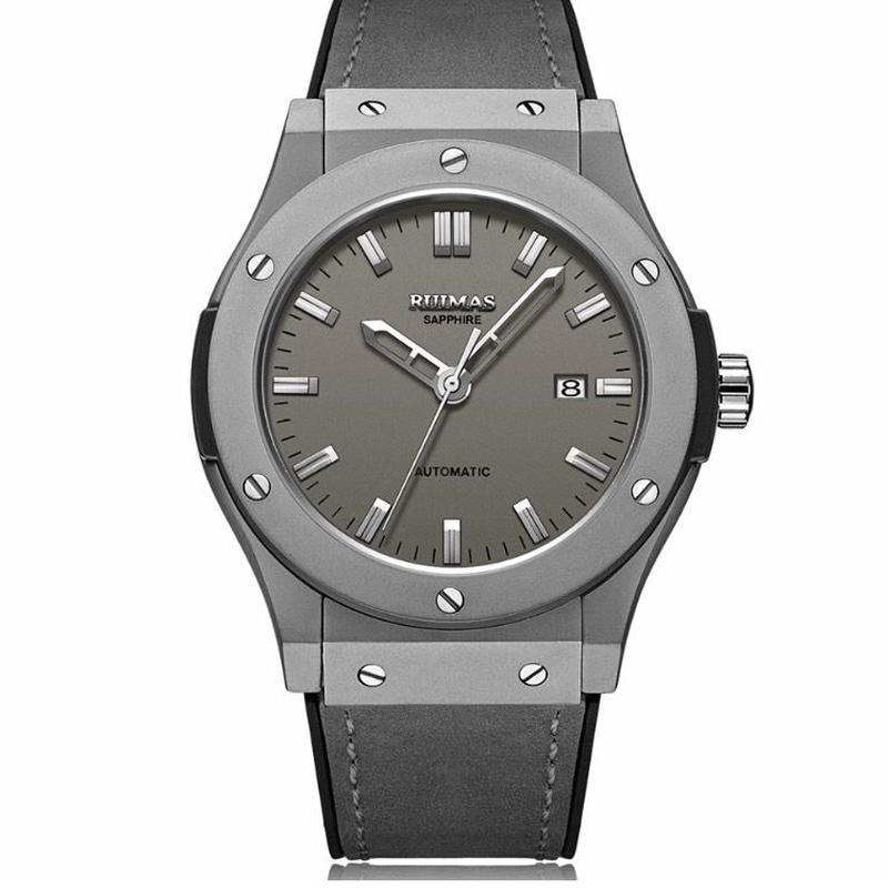 RUIMAS メンズ腕時計 自動巻機械式 レザーバンド
