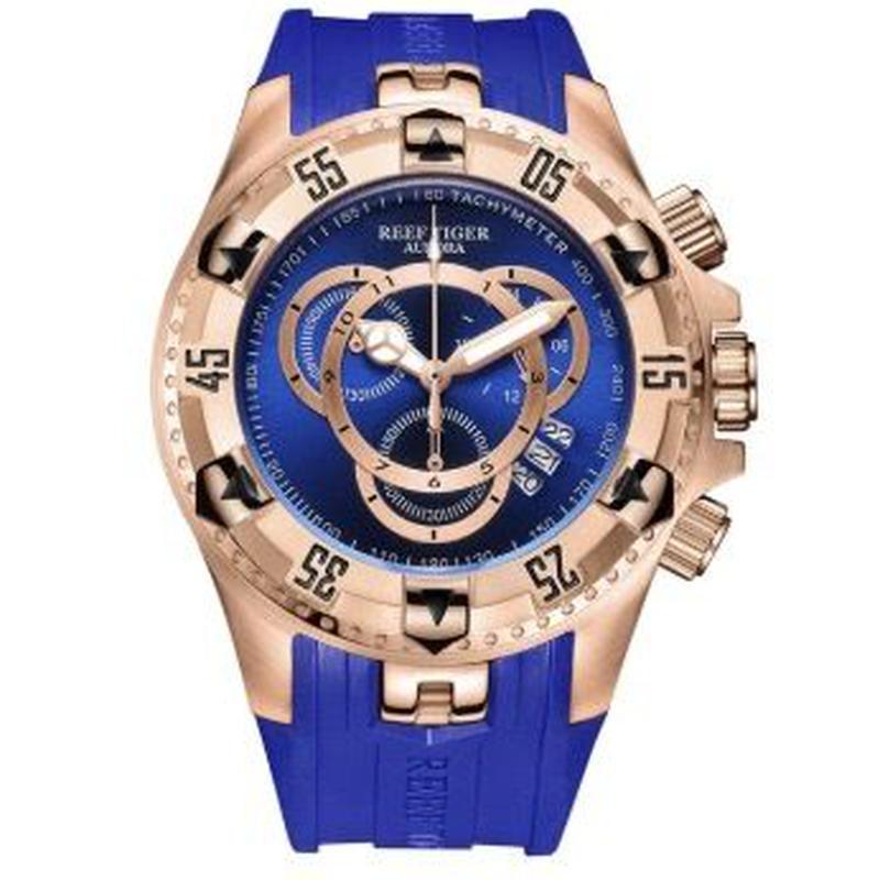 Reef Tiger オーロラヘラクレスⅱ メンズ クォーツ腕時計