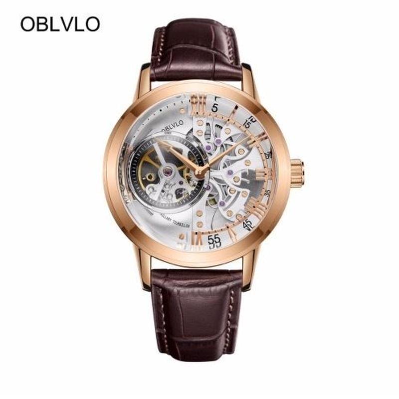 OBLVLOハリーウィンストン風 メンズ 自動巻腕時計 スケルトン