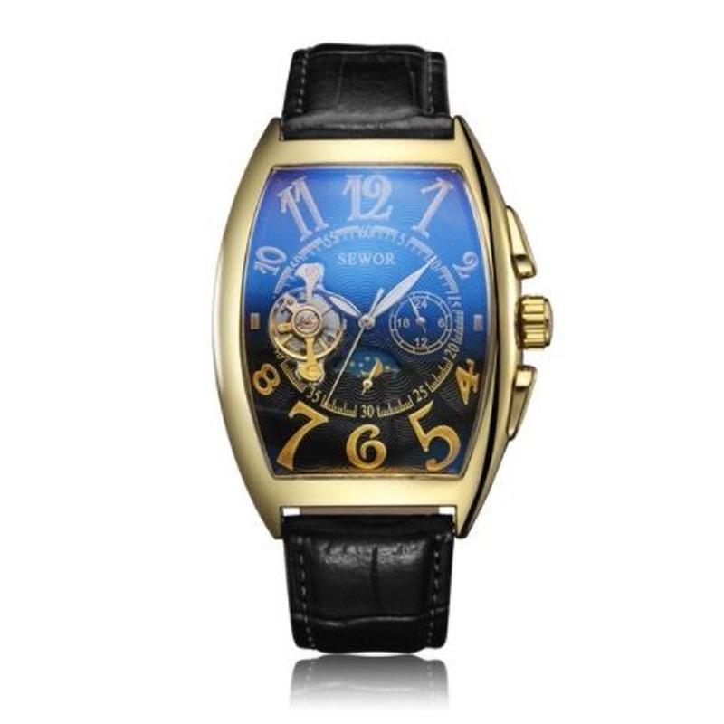 Sewor 自動巻き 機械式腕時計 メンズ トゥールビヨン