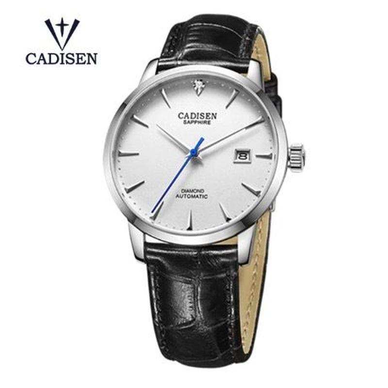 CADISEN C8097 メンズ 自動巻腕時計 40mm サファイアクリスタル シルバー/ゴールド/ローズゴールド